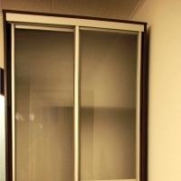 Корпусный шкаф-купе. Двери стекло, фотопечать. Профиль серебро.